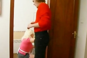 blonde milf mambos squeezed and fucked