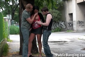 group sex in the street with a juvenile charming