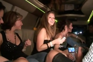 limo ride with sexy sweethearts