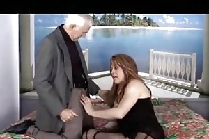 old man fucks a breasty shemale