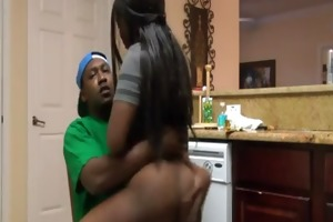 darksome ghetto girl fucked by black cock