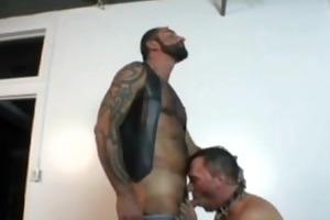 naughty tattooed bear tom colt fucks friend