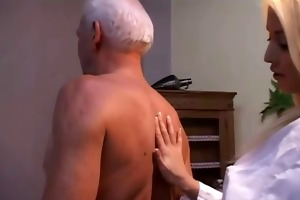 sexy nurse with old guy