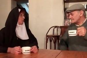 old fellow bonks nun