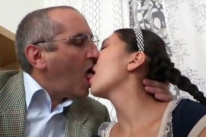 old teacher give a good fuck for cute oriental