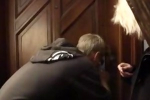 blonde granny allows him drill her old muff