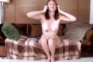 milf with beads masturbating her love button