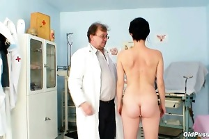 old barbora pussy real gyno fetish examination by