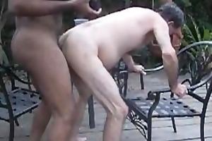 gbm copulates older white boy raw on patio