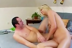 golden-haired milf sucked and banged