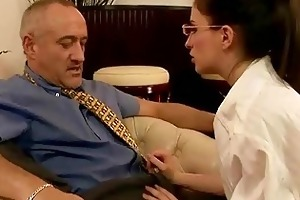 juvenile secretary fucking her old boss