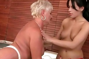 grannies vs young gals hard sex compilation