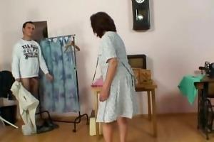 sewing granny takes his knob