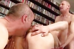 old and youthful group sex