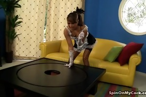 stunning jessie jordan fucked on spinning table