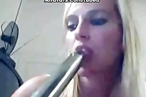 kinky gf copulates her ass with sextoy toy