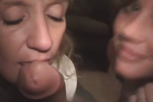 mother daughter crack whore oral job team