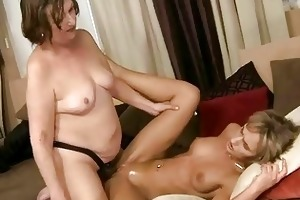 fat grandma loves young girl