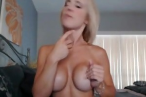 blonde milf playing with sex-toy and sextoy