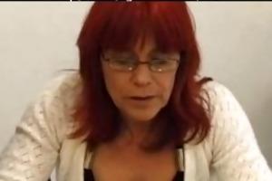 redhead in stockings fucks aged aged porn granny