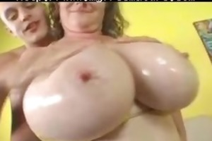 big tit milf meets and bonks young man at the