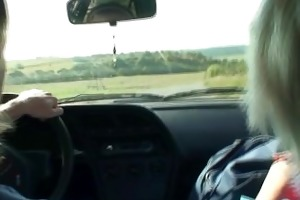 he picks up oldie from the road and copulates in