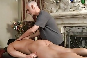 aged gay hunk sucks younger hard pounder on