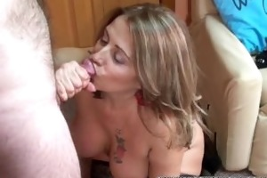 aged swinger sandie marquez is swallowing a stiff