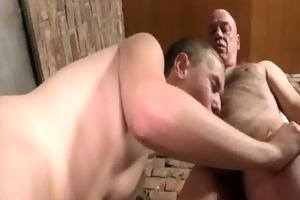 dad sucks lad off in public restroom