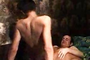tanned young homo rides his gay daddys subrigid