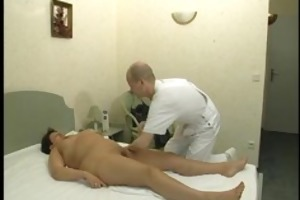 mature hotty acquires a massage then copulates