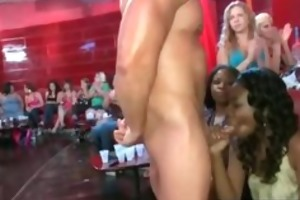 hot dark party wench gives bj to stripper