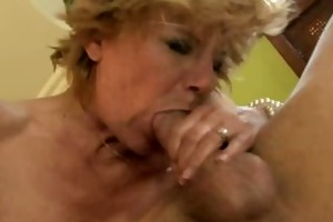 bushy mature granny twat fucked from behind
