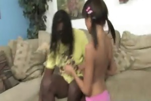 black cock and a small honey 16