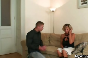 hot mother in law enjoys ramrod riding
