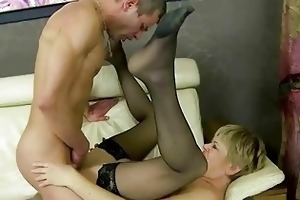 granny fucking her younger lover