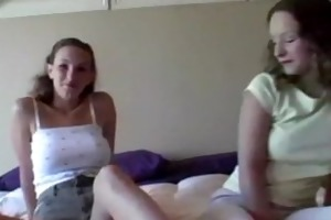mature sister teaches her sister to masturbate