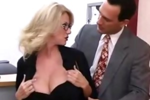 hawt older secretary seducing younger boss
